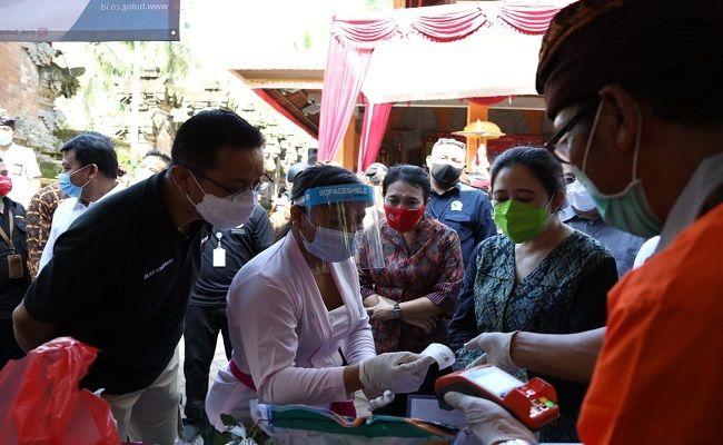 Puan Maharani, Megawati Soekarnoputri, Ketua DPRRI, Pemkab badung, bantuan beras, BST, BSB, Program Sembako, warga badung, Menkop, Bulog, menteri PPA,