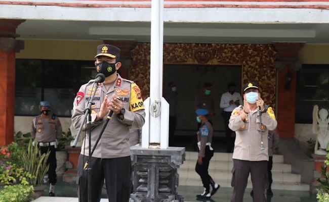 Kapolda Bali berkunjung ke Polres Badung, Jumat (27/11).
