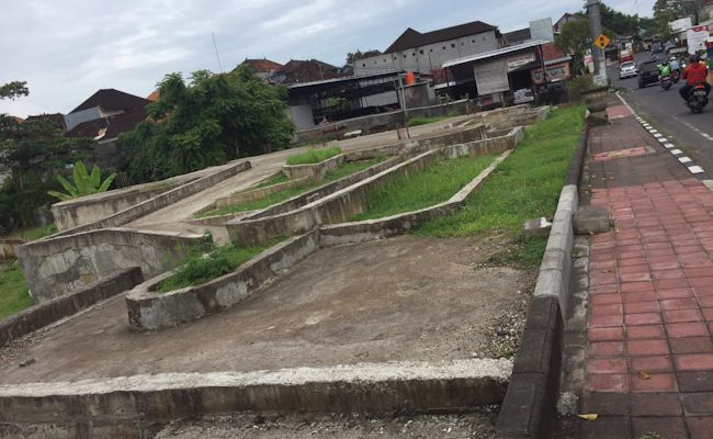 Kondisi proyek taman delta Dalung, kemarin