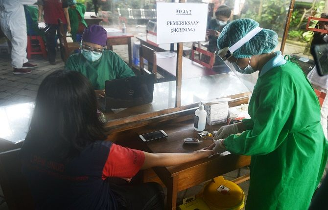 vaksinasi covid-19, vaksinasi rendah, 9 desa di klungkung, dinkes klungkung