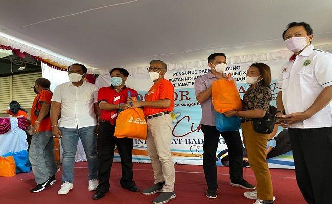 HUT INI-IPPAT, Ikatan notaris Indonesia, Pejabat Pembuat Akta Tanah, Pengda INI Badung, IPPAT Badung, Satu cinta, berbagi sembako, donor darah, baksos