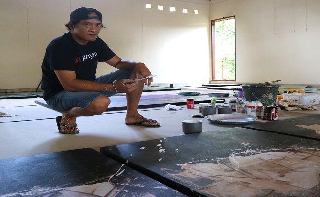 pamerkan karya, eksistensi seniman, tetap berkarya, Nyoman Sujana Kenyem,Komaneka Fine Art Gallery,