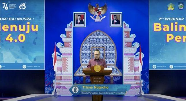 bank indonesia perwakilan bali, trisno nugroho, webinar bank indonesia, ekonomi bali nusra, wagub bali cok ace