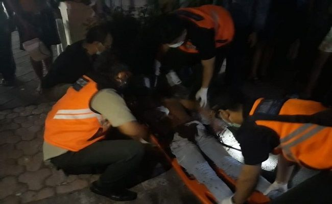 insiden berdarah, pesta arak, tumbang kena tikam, penusukan, Polsek Dentim, Polresta Denpasar,