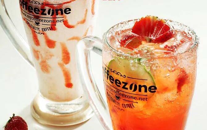 GUGAH SELERA: Beragam minuman andalan Coffeezone Genteng.