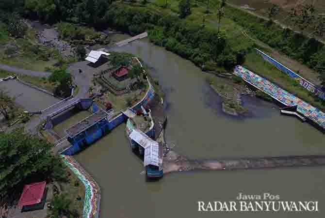 DAM TERBAIK: Dam Gembleng yang berlokasi di Desa Aliyan, Kecamatan Rogojampi ini ditetapkan sebagai lokasi lomba foto on the spot yang akan berlangsung pada Sabtu (25/11) mendatang.