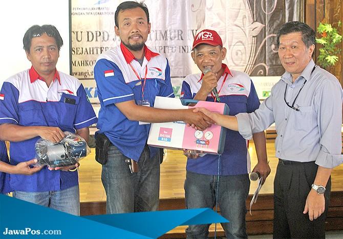 SOLID: Para sponsor yang telah membantu mensukseskan acara APITU Jatim di Banyuwangi.