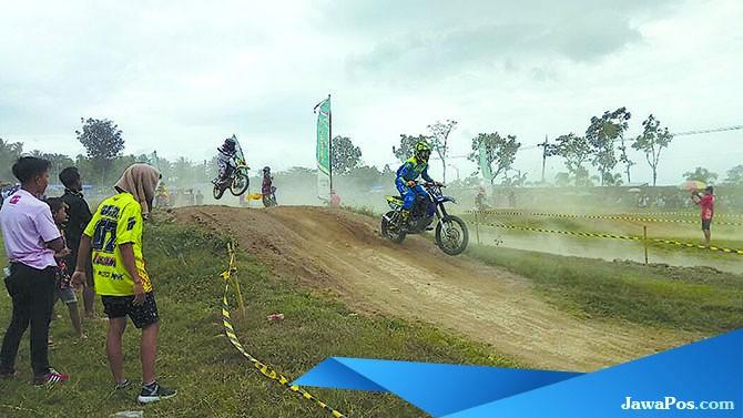 HARI INI: Event Motocross Grasstrack dalam rangka HUT ke-72 Bhayangkara akan digelar di Sirkuit Srawet Desa Kebondalem, Kecamatan Bangorejo, hari ini (28/7).