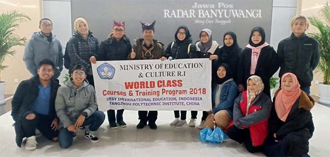 MEMBANGGAKAN: Peserta Program World Class Courses and Training di Yangzhou Polytechnic Institute (YPI) Tiongkok.