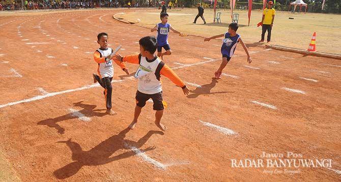 ANDALAN: Kids Atletik kembali masuk cabor di O2SN tahun ini.
