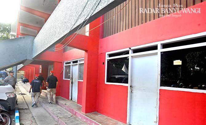 BELUM TERPAKAI: Bangunan yang ada di kawasan GOR Tawangalun ini diusulkan menjadi sekretariat cabang olahraga.