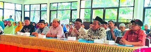 PEMANTAPAN: CJH KBIH Sabilillah saat manasik haji di Hotel Tanjung Asri Minggu (19/1)