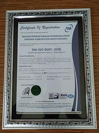 Sertifikat SNI ISO 9001: 2015