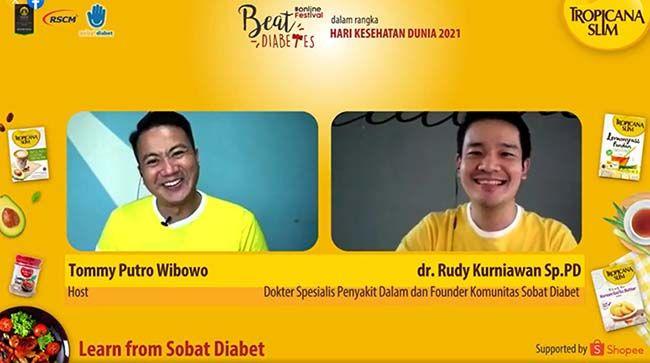 CEGAH SEJAK DINI: Learn from Sobat Diabet Community bersama dr. Rudy Kurniawan, Sp.PD membahas tentang hubungan anak muda, perubahan iklim dan risiko diabetes serta pentingnya hidup sehat dan mencegah diabetes sejak dini.