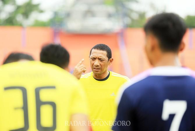 HARUS MAKSIMAL: Pemain Persibo diharapkan dapat memaksimalkan dua laga sisa pada fase 12 besar zona 3 Jawa Timur di Liga 2.
