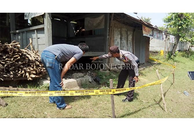 GEGER: Ditemukan sesosok mayat berada di belakang pos kamling.