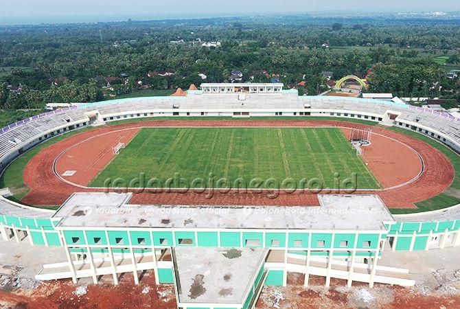 SIAP DIOPERASIKAN: Stadion Bumi Wali di kompleks Tuban Sport Center.
