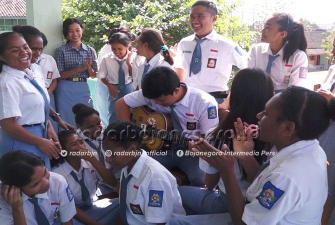 AMAN: Siswa asli Papua merasa nyaman menuntut ilmu di Blora.