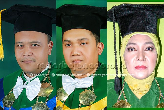 Dr. Zulkifli Lubis, ST, MT, Wakil Rektor I, Dr. Abdul Ghofur, SE., M.Si, Wakil Rektor II, Ir. Hj Nuril Badriyah, MM, Wakil Rektor III