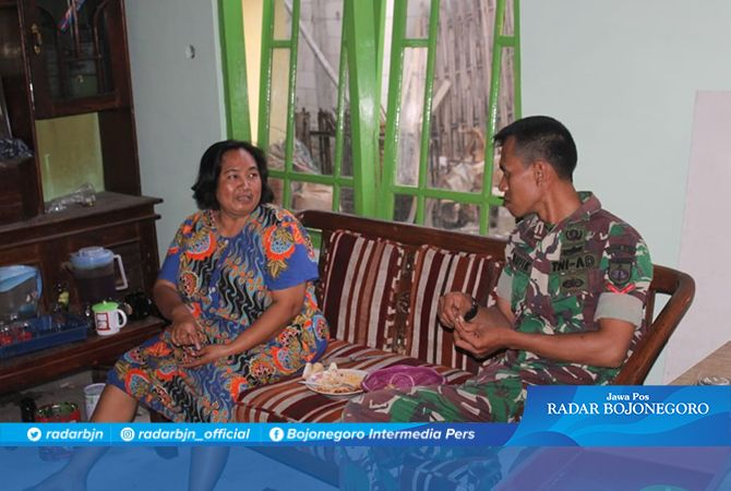 Jalin Keakraban, Kopda Tofik sambangi rumah Nadir Penerima RTLH