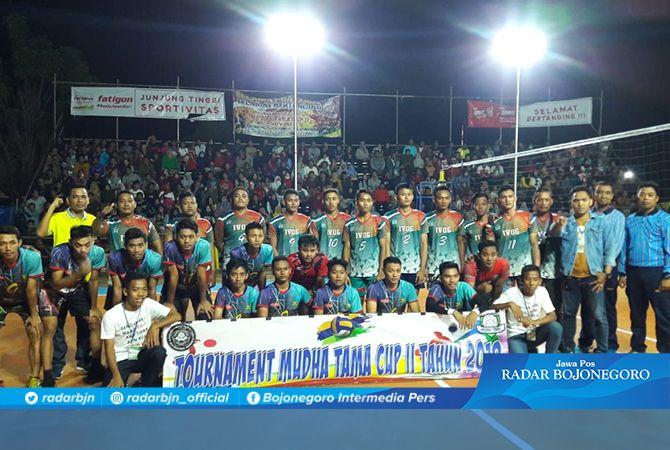MERIAH: Laga Final Mudha Tama Cup II 2019 yang didukung Fatigon pada Jumat (1/11) malam.