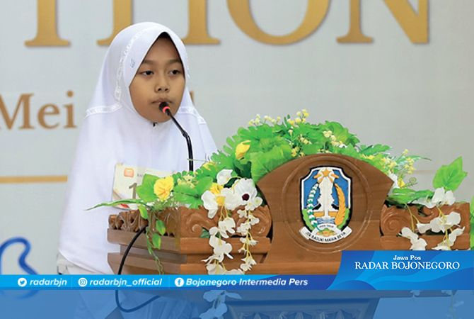 JAWARA: Ardiya Nurin Najwa sejak TK sudah sering menyabet piala beragam lomba tahfid, qari, tilawah, maupun mewarnai.