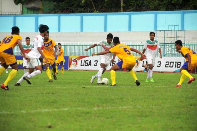 Pertandingan PSID Jombang melawan Solok FC di Stadion Wijaya Kusuma Cilacap Sabtu (1/12) lalu