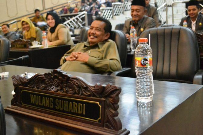Kursi milik anggota DPRD Jombang Wulang Suhardi yang terlihat kosong dalam lima kali sidang paripurna