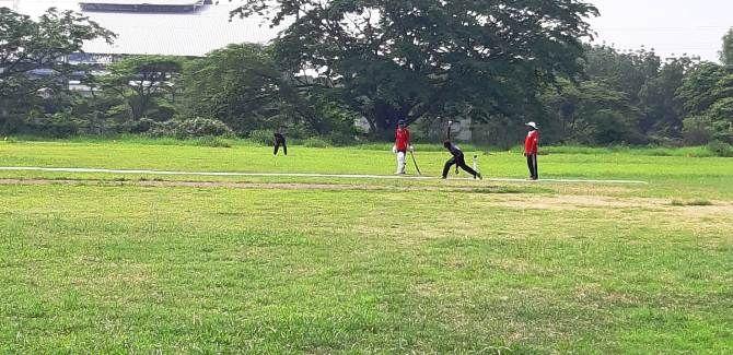 Pertandingan cricket yang diikuti tim Kabupaten Jombang di Kejurnas Terbuka beberapa hari lalu