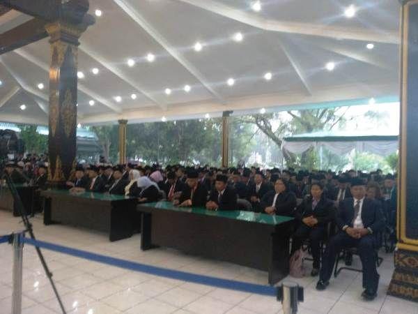Pelantikan pejabat Organisasi Perangkat Daerah (lingkup Pemkab Jombang) di Pendapa Kabupaten siang tadi (11/1)