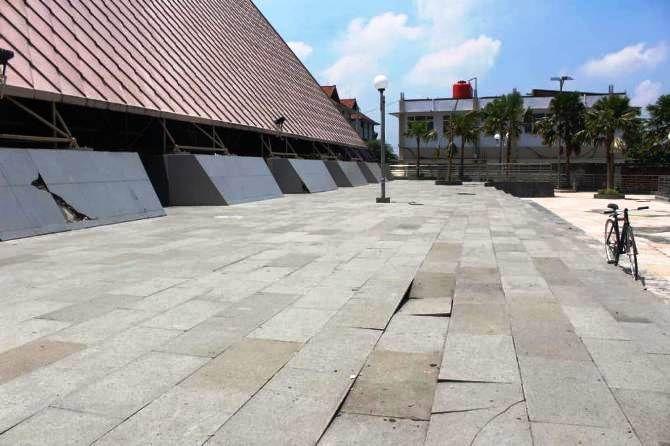 Kondisi Museum Islam Indonesia KH Hasyim Asy'ari (Minha) yang sudah alami kerusakan.