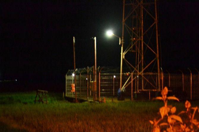 Tower seluler yang berdiri di Desa Sidowarek, Kecamatan Ngoro.