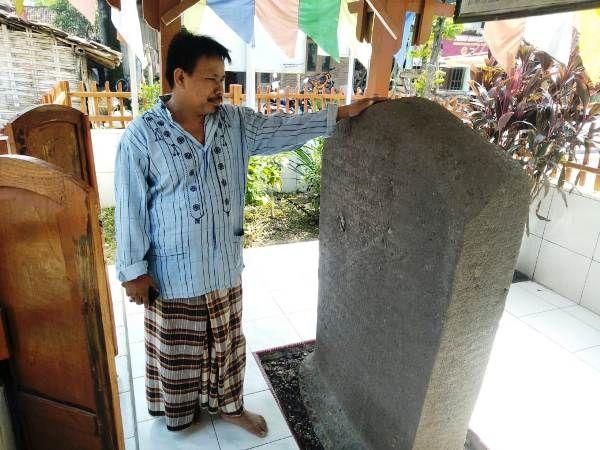 Prasasti Gurit Di Desa Katemas, Kecamatan Kudu, Kabupaten Jombang.
