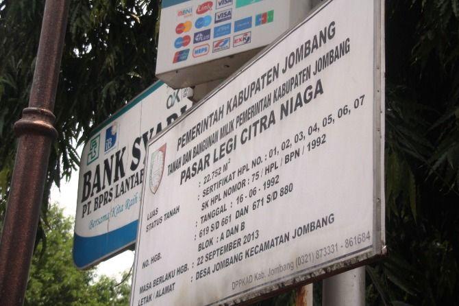 Pasar Citra Niaga yang menjadi salah satu aset milik Pemkab Jombang.