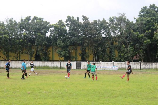 Suasana latihan tim PSID Jombang dalam kompetisi Liga 3 musim lalu.