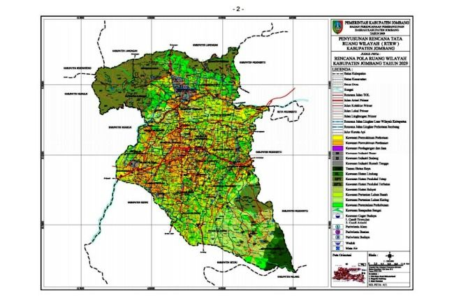 Ilustrasi; peta wilayah Kabupaten Jombang