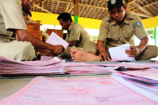 Ilustrasi; SPPT (Surat Pemberitahuan Pajak Terutang) yang sudah turun di Desa Klitih, Kecamatan Plandaan, Kabupaten Jombang.