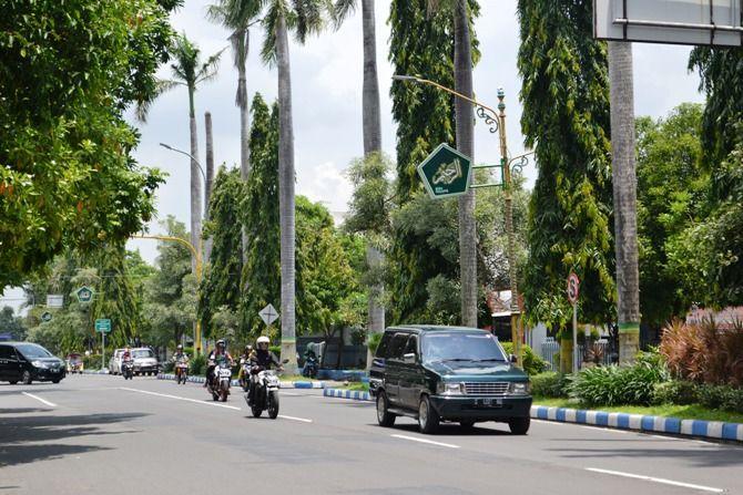 Jalan KH Wahid Hasyim yang akan ditata ulang Pemkab pada tahun ini.