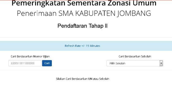 ILUSTRASI: PPDB SMA di Kabupaten Jombang