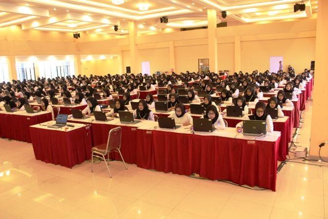 Pelaksanaan SKD CPNS formasi Kabupaten Jombang di GMSC Kota Mojokerto beberapa waktu lalu.