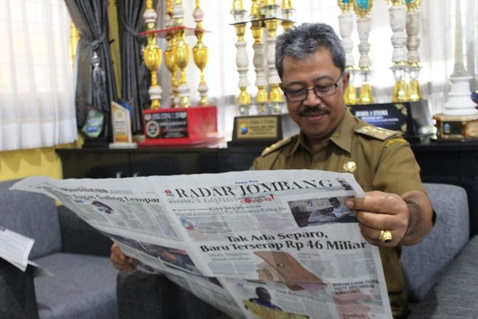 Gatot Wachid Widharto, salah satu pembaca setia Jawa Pos.