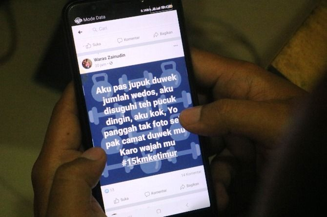 Nyanyian Waras Zainudin tentang praktik kotor dalam mutasi jabatan di media sosial facebook.