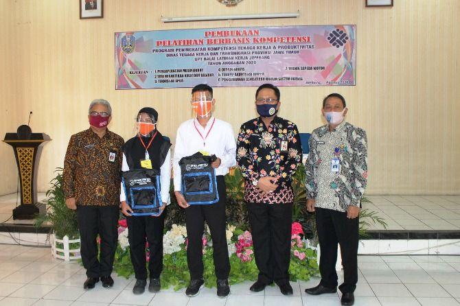 Pembukaan pelatihan kerja berbasis kompetensi di UPT BLK (Balai Latihan Kerja) Kabupaten Jombang kemarin.