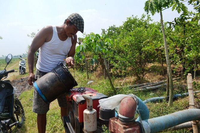 Sejumlah petani di Desa Catakgayam, Kecamatan Mojowarno mengeluhkan sikap pengelola SPBU Desa Selorejo, Kecamatan Mojowarno.