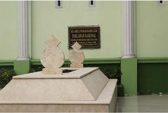 Makam KH Abdul Wahab Hasbullah di Tambak Beras, Jombang.