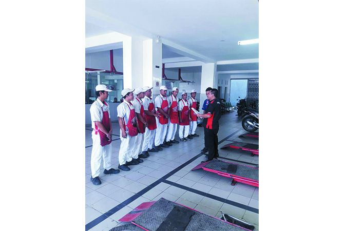 Ahass Anyar Motor II yang berlokasi di Jl Raya Mojoagung 258 Mojoagung