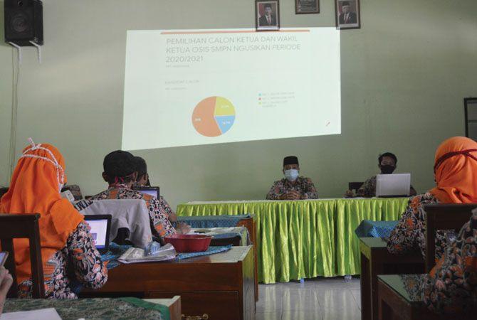 Pemilihan ketua OSIS kali pertama gunakan sistem e-vote.