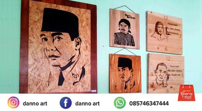 Kayu Siluet Wajah Danno Art