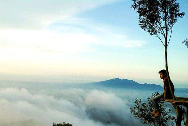 SPOT ANDALAN: Pemandangan yang dapat dinikmati dari Gardu Pandang Jehan di Desa Desa Kunir, Keling, Jepara.