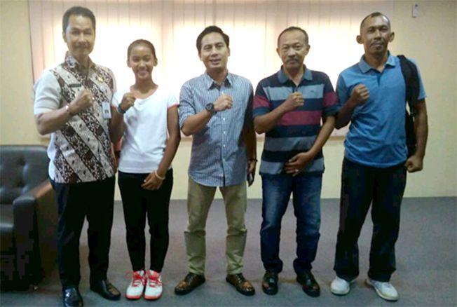 MASUK TIMNAS: Atlet tenis junior Kudus Kholisa Siti Maisaroh berhasil masuk Timnas Tenis Indonesia Kategori Usia 14 tahun